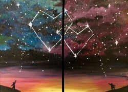Caregiver and Me Constellation Hearts Painting Party (Sunday, August 18) 1:00-3:00