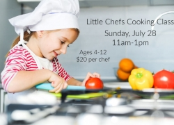 Little Chefs Cooking Class (Sunday, July 28) 11:00-1:00