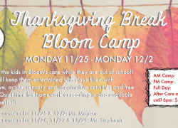 Thanksgiving Break Bloom Camp