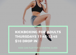 Kickboxing for Adults (Thursdays 11:45-12:45)