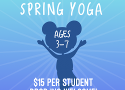 Spring Yoga Ages 3-7 SINGLE CLASS DROP IN Wednesdays 12-12:45 Sundays 3-3:45 (Select Dates)